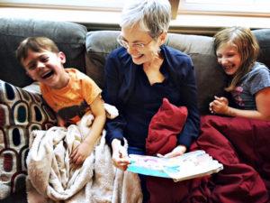Mary and grandchildren